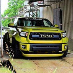 Toyota Tundra Widebody kit & TRD PRO front & rear end. Toyota Autos, Toyota Trucks, Toyota Cars, Toyota Tundra, Tundra Trd, Toyota Tacoma, Toyota 4runner, Mercedes Auto, Custom Trucks
