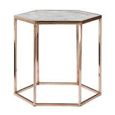 Bloomingville cobre pentagonal mesa de centro de mármol