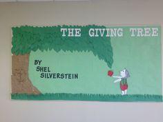 The giving tree bulletin board!