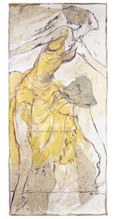 Dancer in Yellow Art Print by Marta Gottfried Wiley