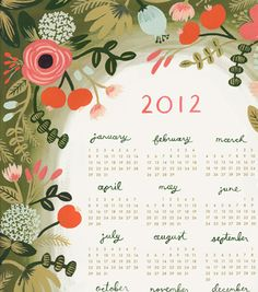 a beautiful calendar from rifle paper co.