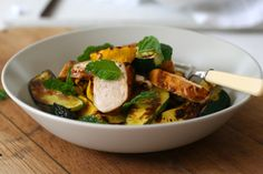 Harissa Chicken and Roasted Vegetable Salad - Sarah Graham Food Roasted Vegetable Salad, Vegetable Salad Recipes, Vegetable Stew, Roasted Vegetables, Meat Salad, Chicken Salad, Harissa Chicken, Peanut Sauce Recipe, Healthy Family Meals
