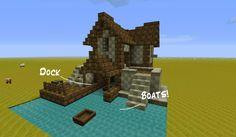 minecraft fisherman house - Google Search
