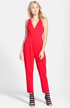 French Connection Double V-Neck Jumpsuit available at #Nordstrom