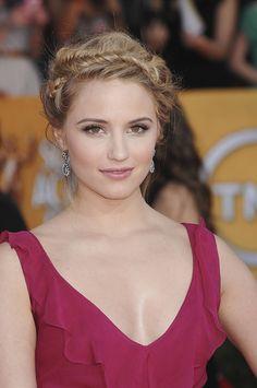Dianna Agron - this would make such a cute prom hair style!