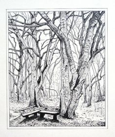 Landscapes of Memory: Untitled Pen and ink drawing on natural white, acid free paper.  2013. SOLD