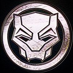 Black Panther Insignia. #marvel #marvelcinematicuniverse #wakanda #vibranium #tchalla #blackpanther #insignia