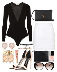 """"" by biancamarie17 on Polyvore featuring Topshop, Michael Kors, Tom Ford, Yves Saint Laurent, Gucci, Fallon, Monica Vinader, Avon and Too Faced Cosmetics"