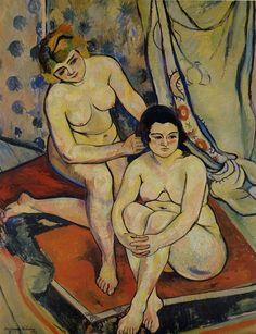 "suzanne valadon paintings | ... Postimpressionnisme / VALADON / Suzanne VALADON ""Les Deux Baigneuses"