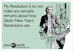 Sarcastic Financial New Year Resolutions