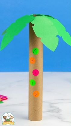 Preschool Name Crafts, Alphabet Crafts, Crafts For Kids, Toddler Learning Activities, Preschool Activities, Tree Crafts, Book Crafts, Tree Study, Chicka Chicka Boom Boom