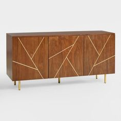 Cost Plus World Market Wood and Metal Inlay Dustin Cabinet Media Furniture, Furniture Projects, Living Room Furniture, Modern Furniture, Home Furniture, Entryway Furniture, Furniture Sets, Rustic Furniture, Furniture Buyers