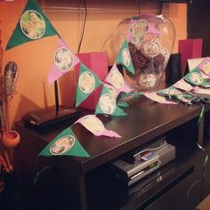 Tinkerbell flags in the making
