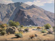Karl Albert (1911-2007) Born in Halstead, KS...grew up in Wyoming...began painting about 1930 while working as a postmaster in Oro Grande...in the Mojave desert...studied with EDGAR PAYNE & SAM HYDE HARRIS followed by study at the Art Center School in Los Angeles. Prior to 1960...painted Impressionist canvases in plein air...after that time...confined his painting to his studio...in a much tighter style.... ...desert landscapes...coastal oils and scenes of the foothil near Pasadena.