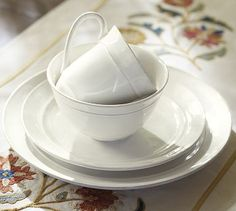 Somebody help me find something similar! Cambria Dinnerware - Stone #potterybarn