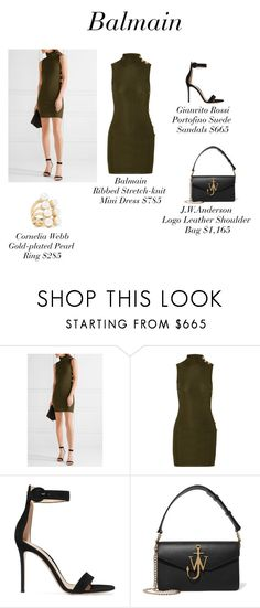"""""""Balmain"""" by mz-authorlee ❤ liked on Polyvore featuring Balmain, Gianvito Rossi, J.W. Anderson and Cornelia Webb"""