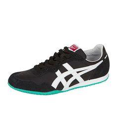 Look what I found on #zulily! Black & White Serrano Sneaker by ASICS #zulilyfinds