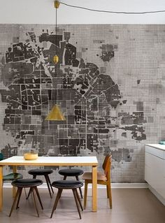 Tapeta - plan miasta z lotu ptaka