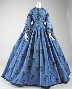 1863, France Silk day dress MET Museum