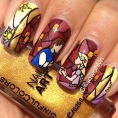 @Janie Goetz you have to learn to do this because I WANT ITTTTTT!! rapunzel by sawahlyn  #nail #nails #nailart  this will never happen