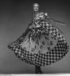 Twiggy wore this specially designed Bill Gibb peasant dress to the 1971 premiere of Ken Russell's film   The Boy Friend, in which she starred