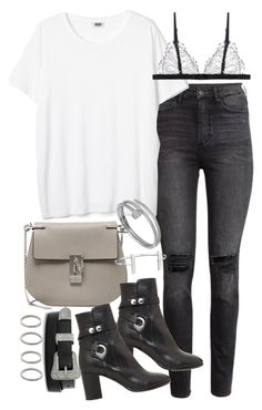 """Untitled #19399"" by florencia95 ❤ liked on Polyvore featuring H&M, Chloé, Isabel Marant, Yves Saint Laurent, Cartier, French Connection and Forever 21"