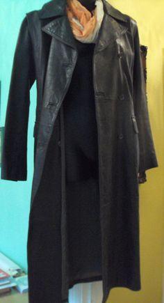 Alan Scott Women long Brown leather coat Made in Italy size 44  #AlanScott #BasicCoat