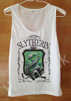Slytherin tank Rock On T shirt Music On Shirt Musical by wannasuk Harry  Potter Shirts 6ff0d46137043