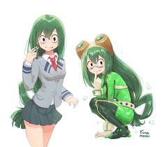 My hero academia. My Hero Academia Tsuyu, My Hero Academia Shouto, Hero Academia Characters, Female Characters, Anime Characters, Tsuyu Asui, Asui Boku No Hero, Deku Cosplay, Cute Frogs