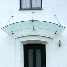 Стеклянный козырек над входом Porch Awning, Canopy Glass, Entrance Doors, House Design, Ceiling Lights, Mirror, Dividers, Home Decor, Windows