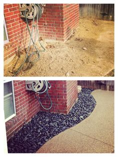 Awesome Rock Landscaping Ideas Backyard that Work - Great Affordable Backyard ideas Landscaping With Rocks, Backyard Landscaping, Landscaping Ideas, Mexican Beach Pebbles, River Rocks, The Great Outdoors, Curb Appeal, Home Remodeling, Creative Design