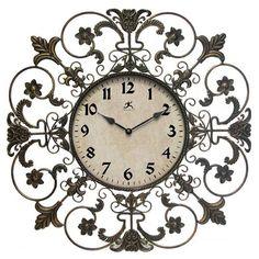 Fleur De Lis Wall Clock #BELLHOT12 #BELLANN12