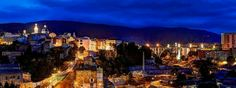 Vista nocturna casco antiguo de la ciudad