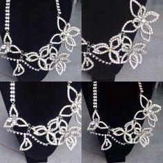 #collana in #cristallo a tema #floreale. #fattaamano.  #crystal #flowers #handmade.  #collar en #cristal #floreal. #hechoamanos. www.oro18.eu info@oro18.eu