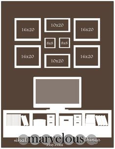 Photo Wall Display Template. I have lots of walls to fill.