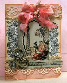 Gorgeous Glitz card using French Kiss & Pretty in Pink