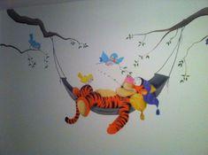 Disney Baby Rooms, Baby Boy Rooms, Baby Disney, Toddler Rooms, Baby Wall Art, Art Wall Kids, Wall Art Decor, Winnie The Pooh Nursery, Bear Nursery