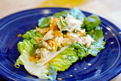 Thai Chicken Wraps: These gluten free wraps would make a great finger food type hors d'oeuvre for a New Year's Eve party. Gluten Free Wraps, Dairy Free Recipes, Paleo Recipes, Paleo Food, Thai Recipes, Thai Chicken Wraps, Chicken Wrap Recipes, Candida Diet Recipes, Gluten Free Dinner