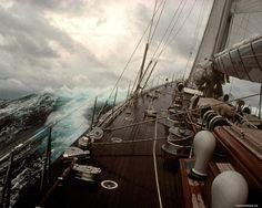 sailing ships stormy seas | yacht Deck. A storm, sea, ships, storm, technics, yachts 1280x1024