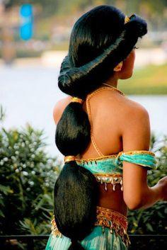DIY Halloween Hair: DIY Halloween Hairstyles : Halloween Hair for Princess Jasmine