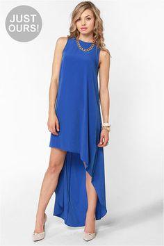 """Float On Blue"" High-Low Dress #lulusholiday"