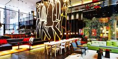 citizenM Hotel New York | Polder sofa | Metal side tables |