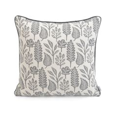To craft these cushions, first a print is made by hand before then being transferred to a modern weaving machine to translate its complex design. An original Kiran Ravilious' design, a collage of palm leaves adorn the rugs blue fabric, as gentle pale Contemporary Cushions, Modern Cushions, Luxury Cushions, Scatter Cushions, Weaving Machine, Teal Accents, Dream Furniture, Grand Designs, Blue Rooms