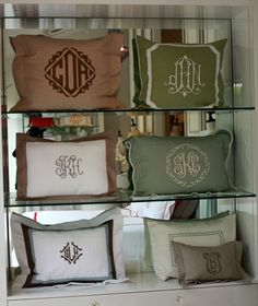 The Enchanted Home: Mad for monograms and a monogram giveaway!