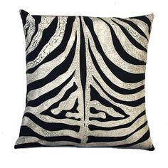 "Small Zebra ""Skin"" Cushion Cover"