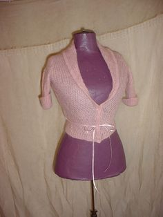Express Mohair Blend Sweater Pink size Medium Short Sleeve Shawl Collar Belted #Express #Cardigan Seller florasgarden on ebay