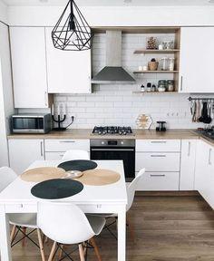 Natural color palette in the kitchen by Nuevo Hogar Kitchen Room Design, Home Decor Kitchen, Interior Design Living Room, Home Kitchens, Kitchen Ideas, Small Kitchens, Küchen Design, House Design, Sweet Home