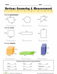 Range Mean Median Mode Worksheets Word Estimating Capacity Metric Worksheet  Cn  Pinterest  Ancient Rome Map Worksheet Excel with Free Homeschool Printable Worksheets Word Geometry  Measurement Review Th Grade Math Worksheetsshapes  Residential Electrical Load Calculation Worksheet Excel