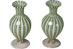 Murano Glass Vases, Pair on OneKingsLane.com