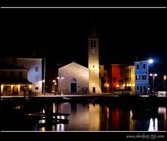 Fazana at night,Croatia